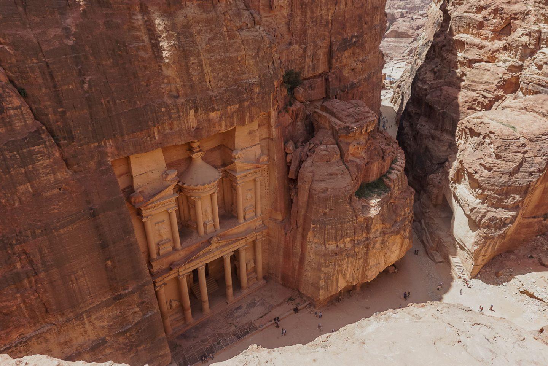 petra treasury jordan gadventures trip