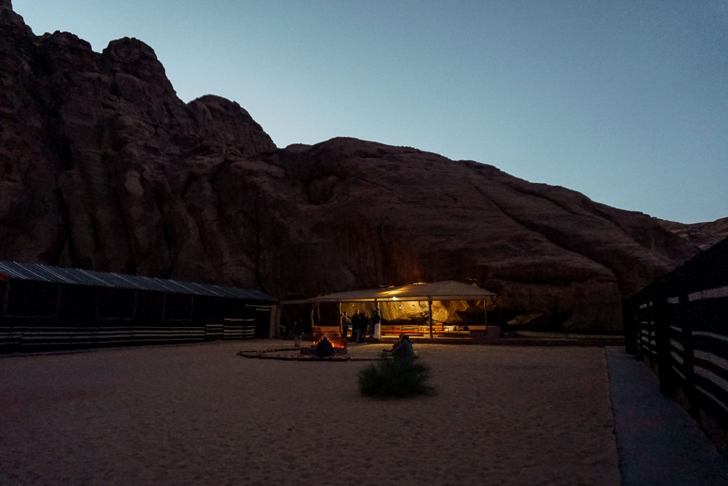 wadi rum jordan night at desert camp