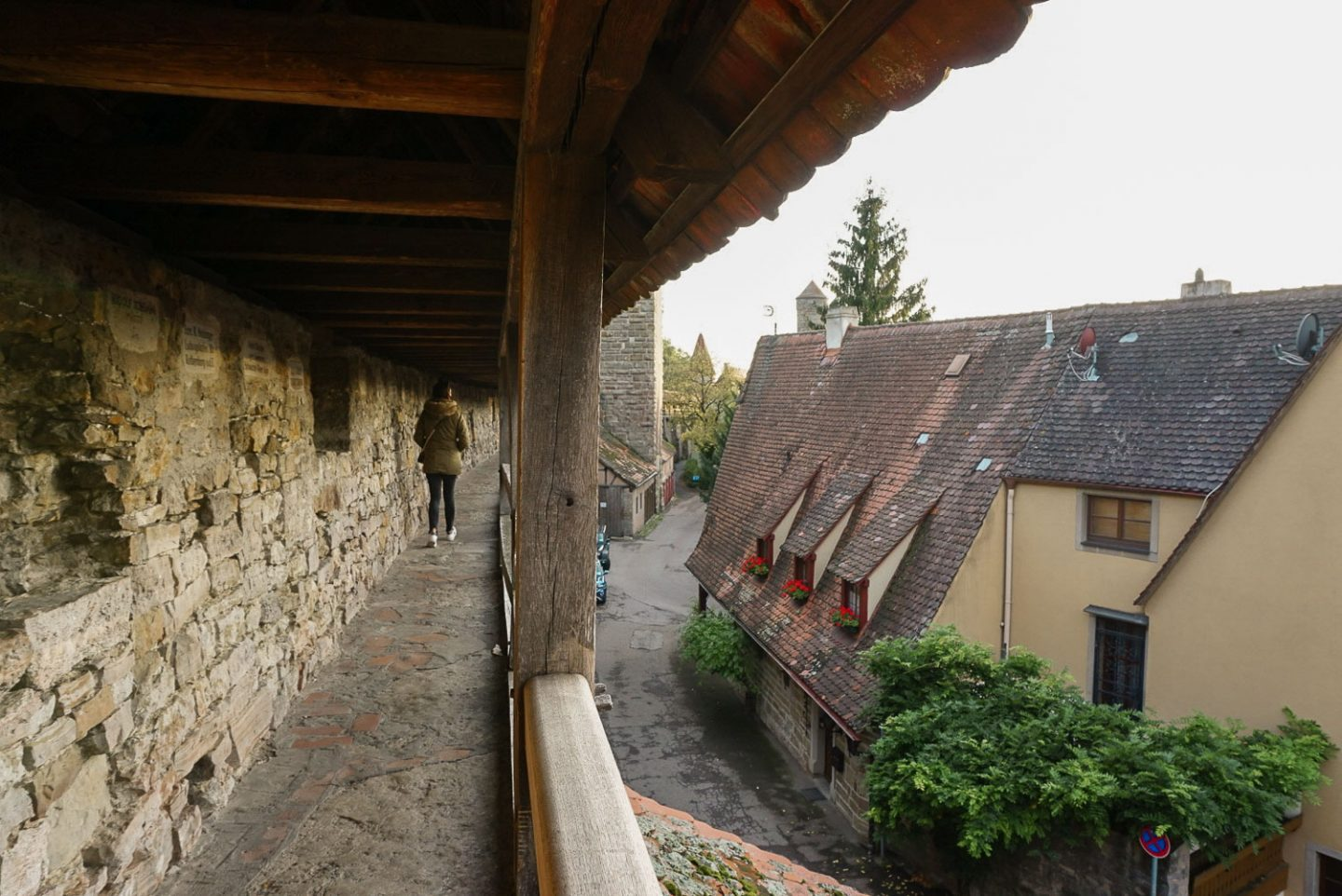 Rothenberg ob der tauber wall walk