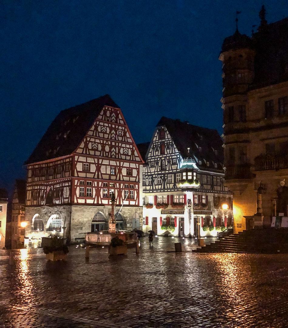 Rothenberg ob der tauber at night