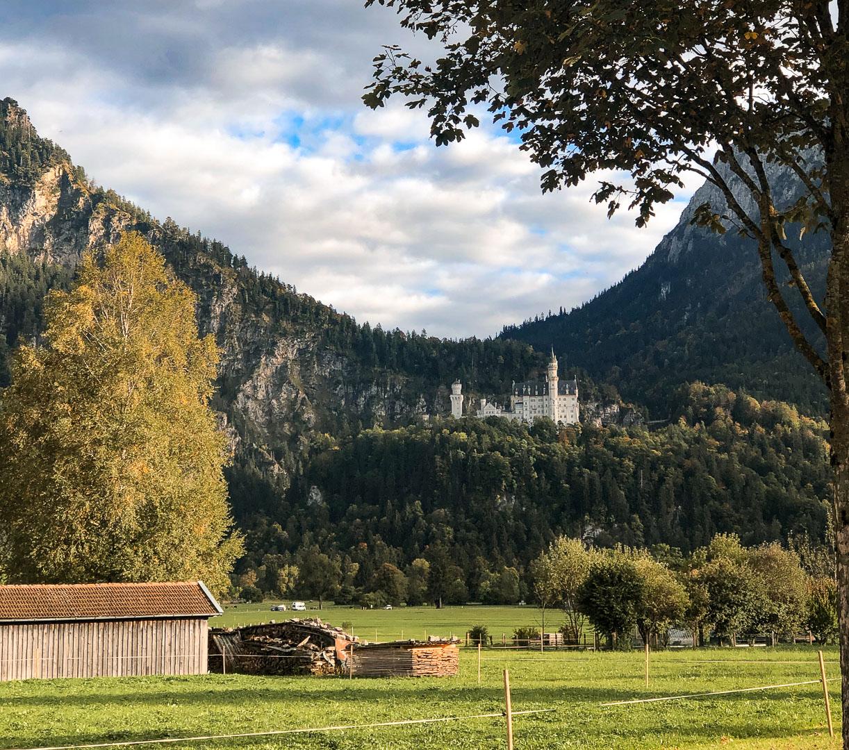 Füssen view of neuschwanstein castle